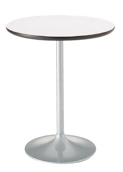 カフェテーブル メラミン天板 選べる3色 600mmφ【送料無料】円形天板 エッジ加工 珈琲テーブル シンプルインテリア