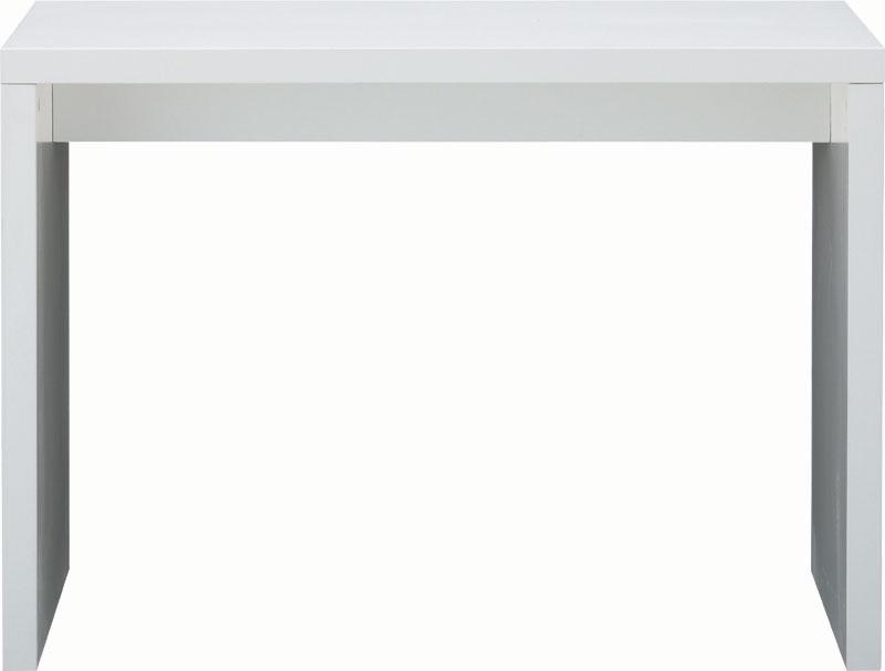 ワークデスク 無駄を省いたコの字型 W1000 D380 H720 ホワイト