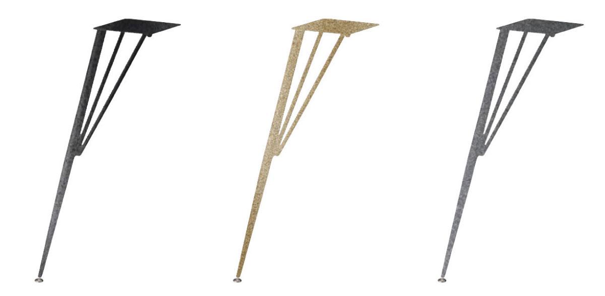 【送料無料】テーブル脚 独立脚4本セット カフェテーブル脚 ラグジュアリー塗装 3色 安定した設置の首振りアジャスター付き DIY オリジナルテーブルパーツ