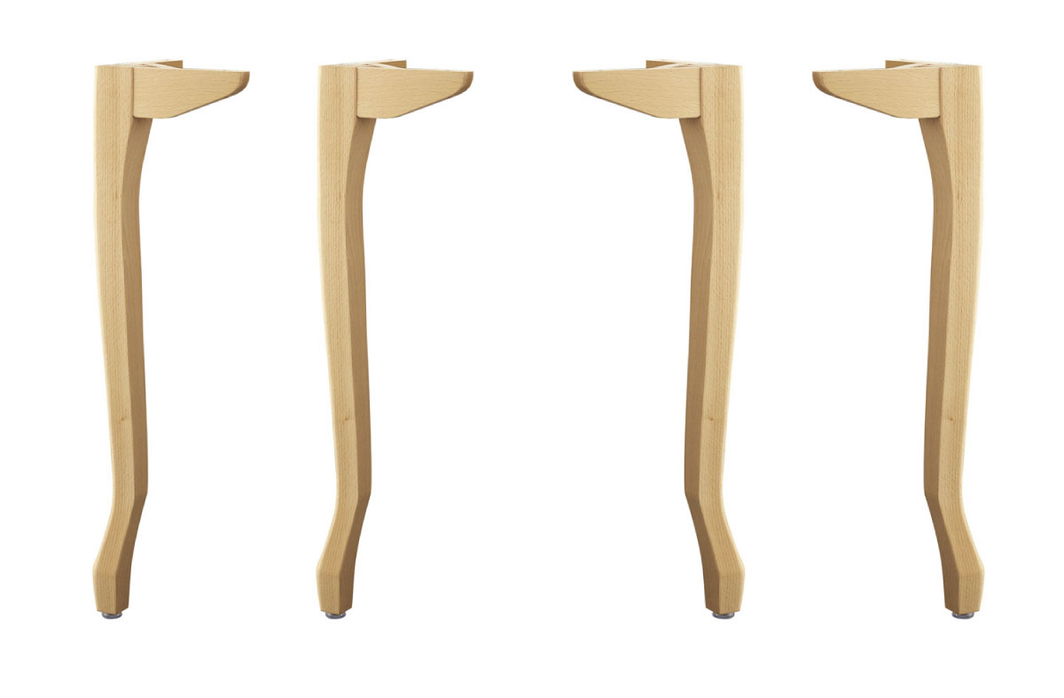 カフェ家具 オシャレなネコ脚 木製脚 捧呈 脚のみ ブナ材 アジャスター付き 高さ68センチ 木製ネコ脚 激安 激安特価 送料無料 高さ680mm テーブル脚4本セット デスク脚 独立タイプ