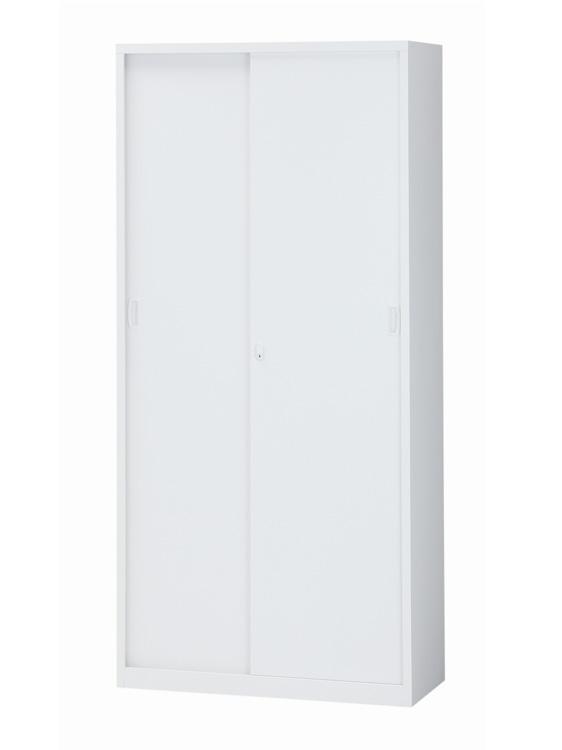 限定エリア送料無料 オフィス収納 スチール書庫 キャビネット 収納庫 引き戸書庫 引き違い書庫 スチール戸 5段書庫 A4対応 ベース一体型 ALZ-S36 送料無料 新品 完成品 海外輸入 鍵付 下置き用 最新アイテム W880xD380xH1860 オフィス家具