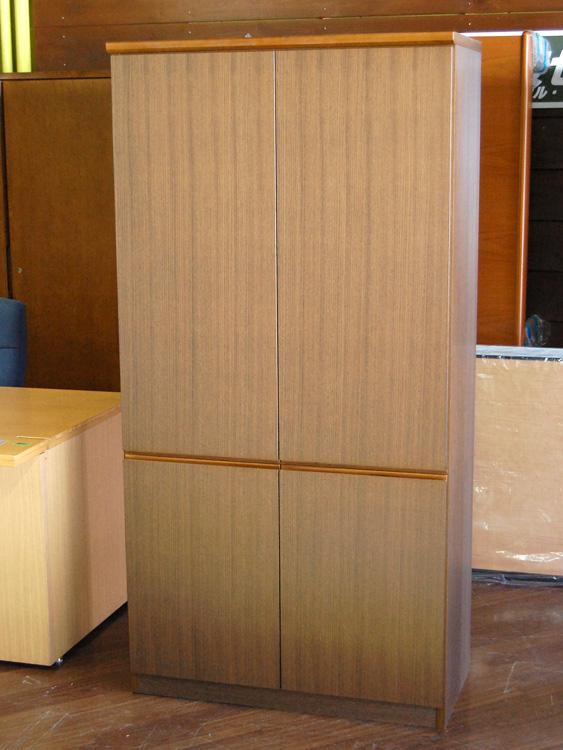 プレジデント用家具 役員用家具 木製書庫 両開き書庫 ウチダ製:SGシリーズ 中古 オフィス家具