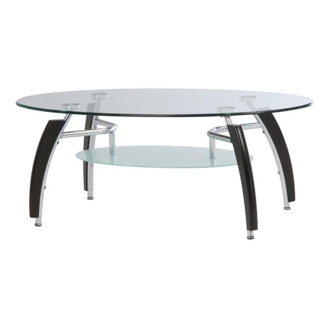 ガラスセンターテーブル アーク BR W1100 天板 中板 送料無料 不二貿易製 送料無料 92609 新品 オフィス家具