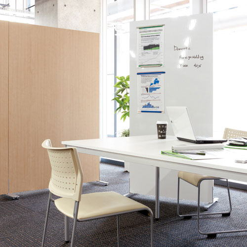 ローパーテーション ホワイトボード 自立パネル 衝立 片面ホワイトボード マグネット使用可   ジョインテックス製:自立パネルシリーズ SKW-1809SK 新品 オフィス家具 アジャスター付