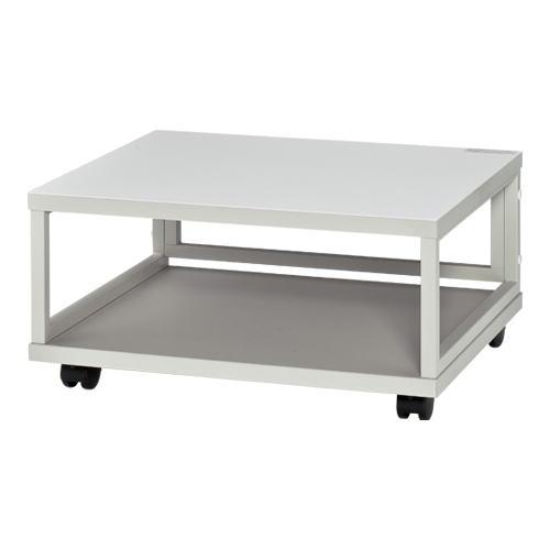 プリンタラック OAテーブル プリンター台 移動式テーブル 完成品 エヌケイ製 W600xD500xH300 NC-300L 新品 オフィス家具 キャスター付