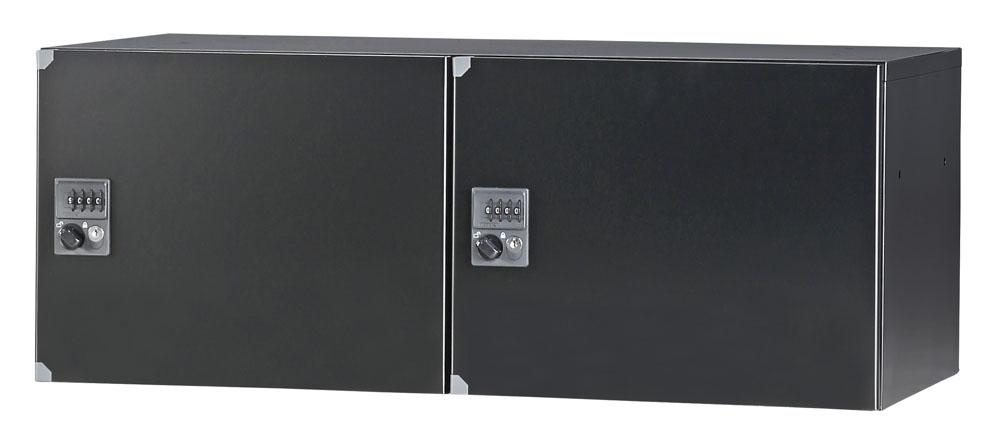 パーソナルロッカー 2列1段 H350 ダイヤル錠 2人用 開口無し 棚板無し コーナーガード付 オフィス収納 国産 完成品 オフィス家具市場オリジナル製:HCBシリーズ W900xD450xH350 新品 オフィス家具