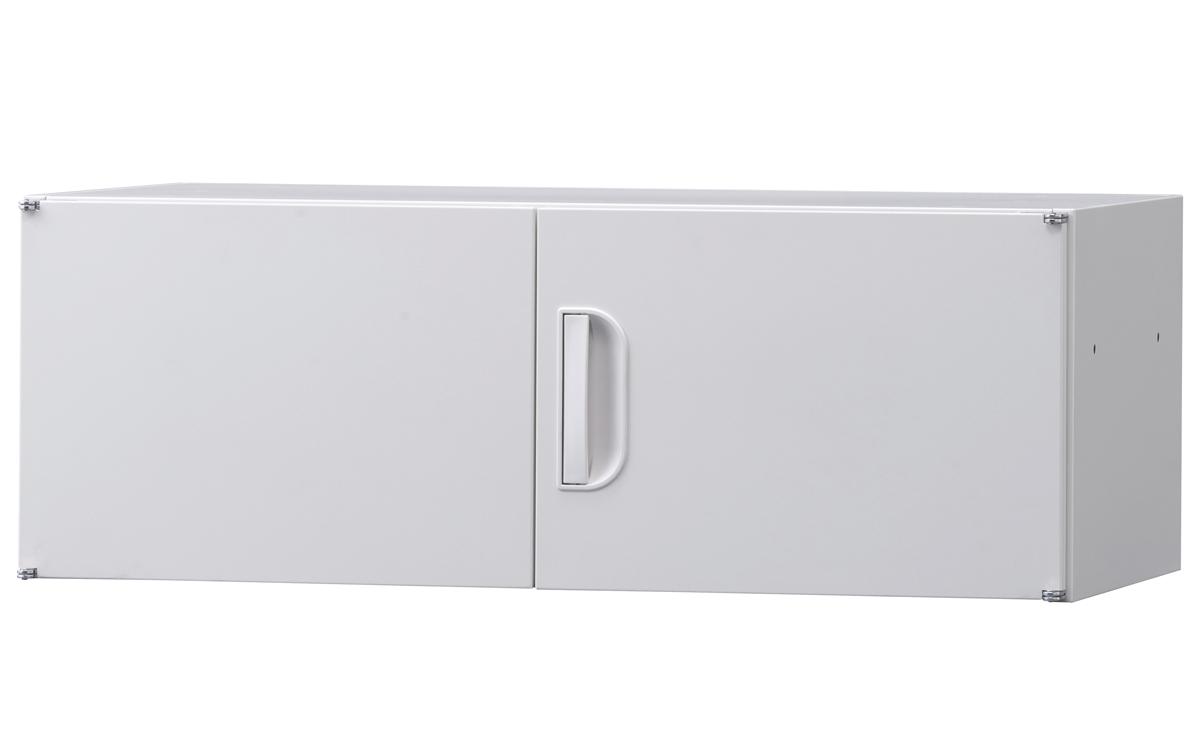 初売りセール! 上置き専用 両開き 上置き棚 天袋 調整棚 H320 配送条件選択あり スチール書庫 国産 壁面書庫 キャビネット オフィス収納 完成品 オフィス家具市場オリジナル製:HCBシリーズ W900xD450xH320 HCB-SU1 新品 オフィス家具