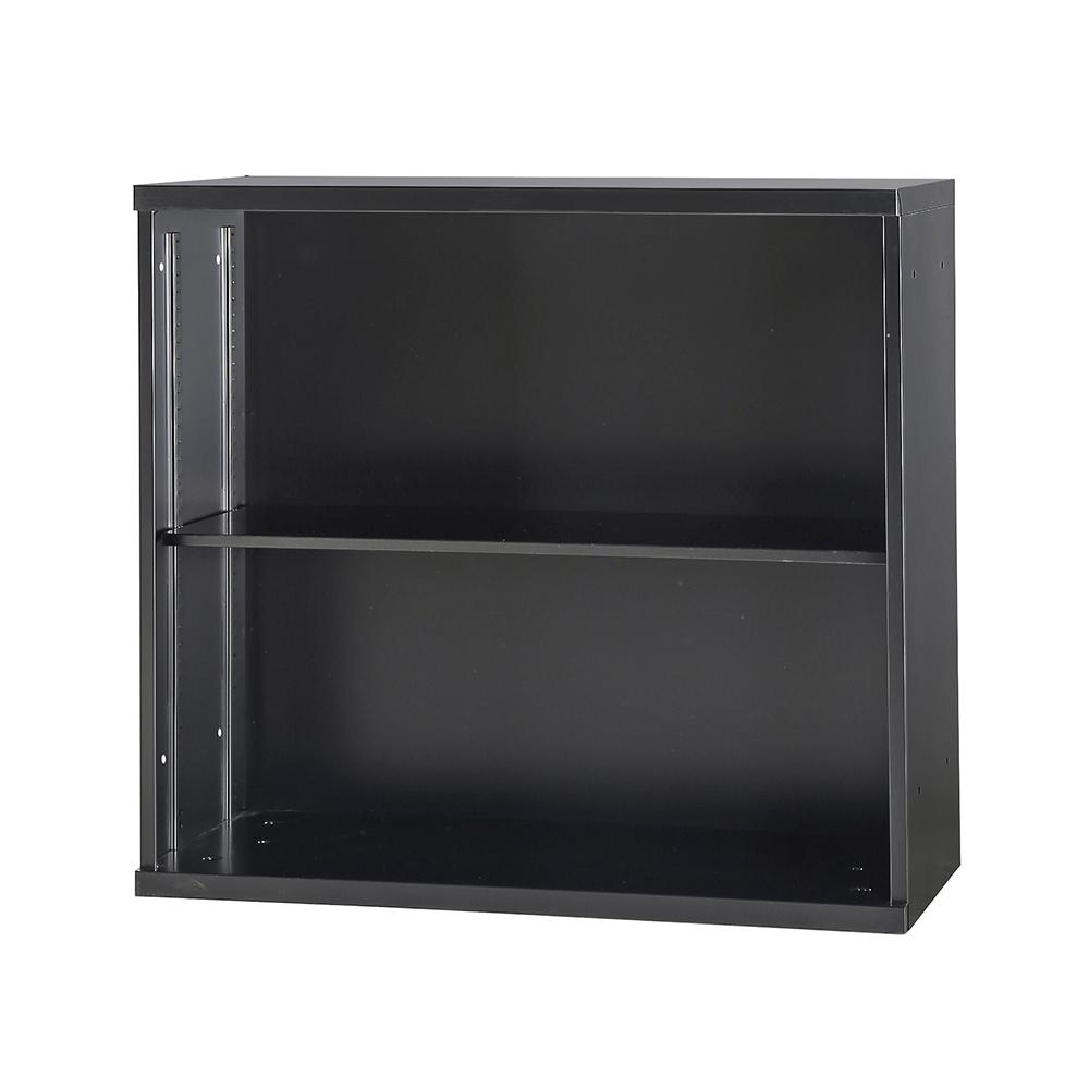 オープン書庫 1列 可動棚 ブラック オフィス収納 スチール棚 キャビネット 収納庫 車上お渡し(建物搬入不可)・時間指定不可・法人様限定 完成品 オフィス家具市場オリジナル製:SNHシリーズ 送料無料 W900xD450xH820 SNH-K11-B 新品 オフィス家具
