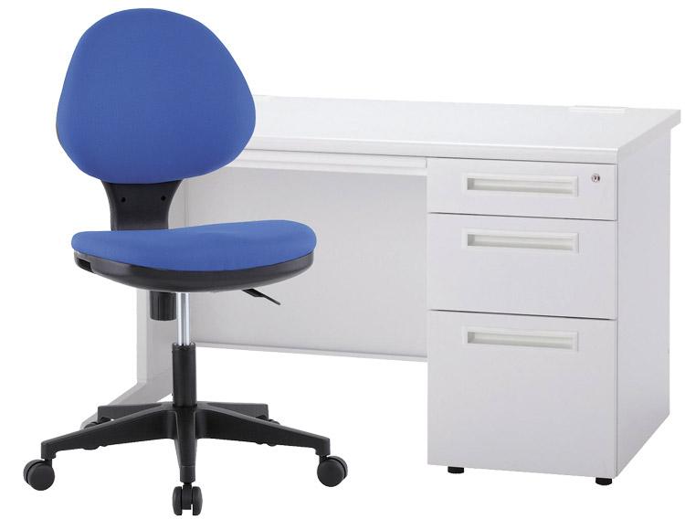 片袖デスク オフィスチェア セット デスクチェアセット 3段袖タイプ 井上金庫製 新品 オフィス家具 期間限定