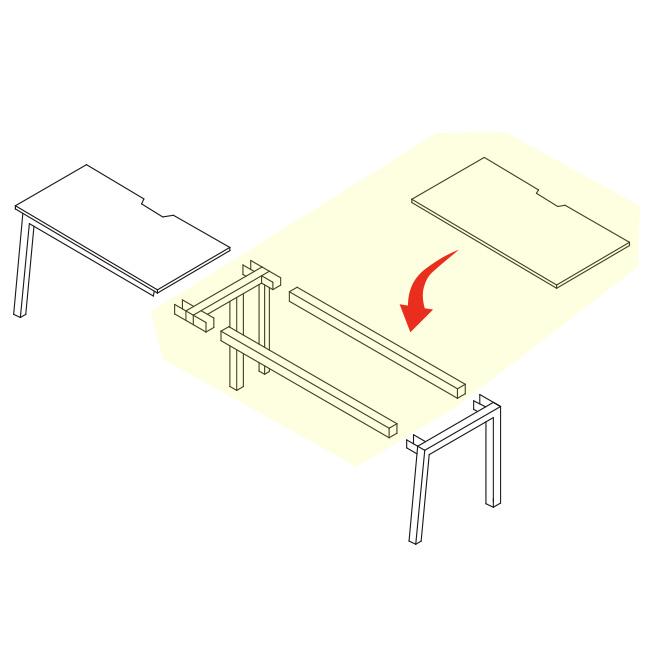 1200?スパンで増連もできる便利な会議テーブル増設連結部材 さらに存在感のあるフリアド 会議テーブル フリーアドレス ミーティングテーブル 増連set W1200×D700タイプ 井上金庫製:Mueシリーズ W1200xD700xH720 新品 入荷予定 4本脚タイプ オフィス家具 法人様のみ送料無料 オリジナル MUE-ZRB1207 コードホール付