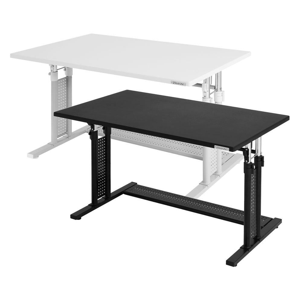 バウヒュッテ PCデスク 昇降式PCデスク(58~80cm)ワークデスク テーブル Be's製:Bauhutteシリーズ 送料無料 W1000xD600xH590 BHD-1000M 新品 オフィス家具