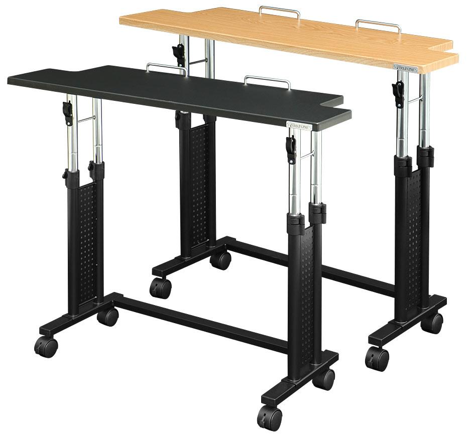 昇降式キーボードスタンド MIDIキーボード向けスタンド 天板昇降機能により立ち座り姿勢のどらにも対応可 Be's製:Bauhutteシリーズ 送料無料 W1000xD333xH700 BHM-1000 新品 オフィス家具