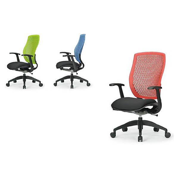 オフィスチェア 事務椅子 PCチェア デスクチェア 肘付 AICO製:MA-1500シリーズ MA-1535(FG2)BK-□□ 新品 オフィス家具