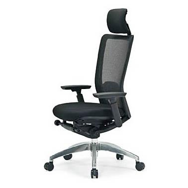 オフィスチェア 事務椅子 PCチェア デスクチェア 肘付 アイコ AICO製:R-5700シリーズ R-5775 新品 オフィス家具 ヘッドレスト付 可動肘付