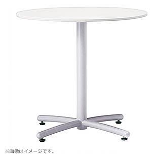 ミーティングテーブル 丸テーブル リフレッシュテーブル 脚色はシルバーかホワイトから選択可能 井上金庫製:UTSシリーズ 法人様のみ送料無料 W750xD750xH700 UTS-750M 新品 オフィス家具 アジャスター付