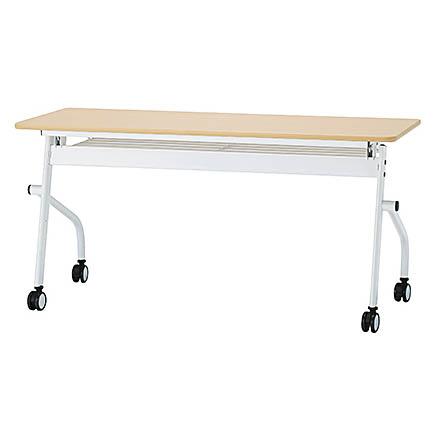 平行スタックテーブル H720mmフラップテーブル 会議テーブル フォールディングテーブル 井上金庫製:PNDシリーズ 法人様のみ送料無料 W1500xD600xH720 PND-1560 新品 オフィス家具 ソフトエッジ アジャスター付