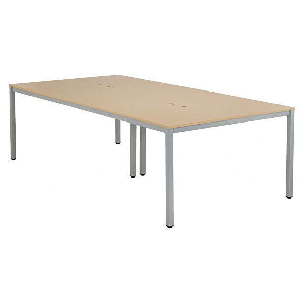 OAミーティングテーブル W2400xD1200 ミーティングテーブル ミーティングデスク 会議用テーブル 会議机 会議室 大型テーブル 会議デスク アール・エフ・ヤマカワ製 W2400xD1200xH700 AT-2412-AF2 新品 オフィス家具 コンセントBOX付 4本脚タイプ