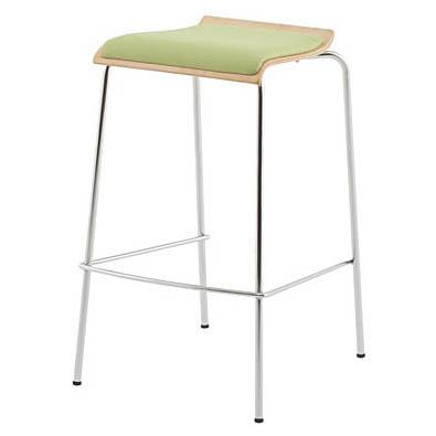 ローバックハイチェア パッド付き グリーン 2脚セット 椅子 ハイスツール カウンターチェア バースツール 完成品 アール・エフ・ヤマカワ製 RFC-FPHGNJ 新品 オフィス家具 2脚セット 全1色