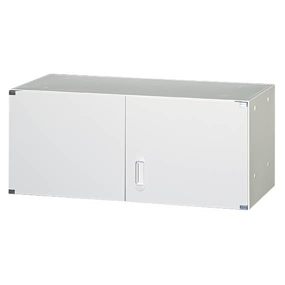 両開き書庫 D450/H380タイプ 上置専用 ALホワイト色 車上渡し 壁面収納家具 スチール製 日本製 完成品 グリーン購入法基準適合商品 オフィス家具市場オリジナル製 W900xD450xH380 UAH-W4A 新品 オフィス家具
