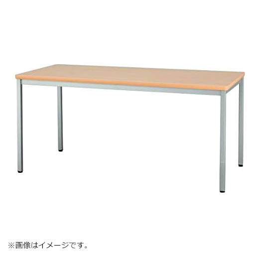 ミーティングテーブル W1500×D900 角パイプ・メラミン焼付塗装脚タイプ 会議 ミーティング 机 テーブル デスク 事務 オフィス用 アイリスチトセ製:SOTシリーズ W1500xD900xH700 T-CSOT-1590K 新品 オフィス家具 ご奉仕価格! 期間限定 4本脚タイプ