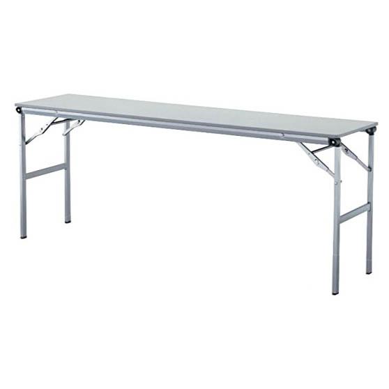 折りたたみテーブル スタッキングテーブル 棚なし メラミン天板タイプ 会議テーブル ミーティングテーブル 長机 スライドタイプテーブル 特選 法人限定 アイリスチトセ製:LOTシリーズ W1800xD450xH700 T-LOT-1845 新品 オフィス家具 ご奉仕価格! 期間限定 アジャスター付