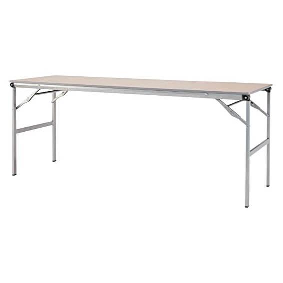 折りたたみテーブル スタッキングテーブル 棚なし メラミン天板タイプ 会議テーブル ミーティングテーブル 長机 スライドタイプテーブル 特選 法人限定 アイリスチトセ製:LOTシリーズ W1800xD600xH700 T-LOT-1860 新品 オフィス家具 ご奉仕価格! 期間限定 アジャスター付