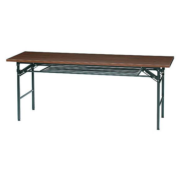 折りたたみ会議テーブル W1800×D600mmタイプ 長机 折りたたみ机 折りテーブル 井上金庫製:KMシリーズ 法人様のみ送料無料 W1800xD600xH700 KM-1860T 新品 オフィス家具 アジャスター付