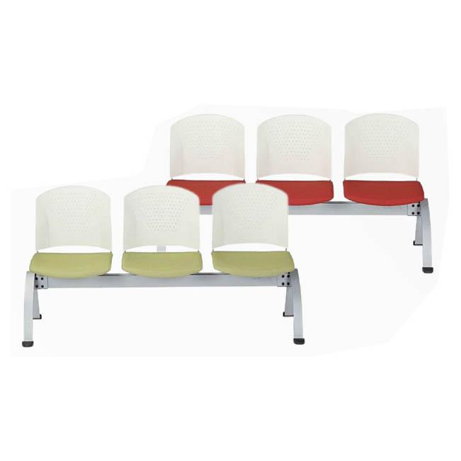 ロビーチェア 3人用肘なしタイプ 布張りorビニールレザー張り 応接 イベントスペース AICO製: LC-300シリーズ LC-303W 新品 オフィス家具 全11色