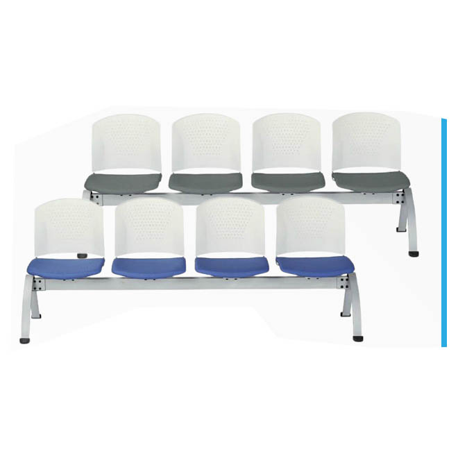 ロビーチェア 4人用肘なしタイプ 布張りorビニールレザー張り 応接 イベントスペース AICO製: LC-300シリーズ LC-304W 新品 オフィス家具 全11色