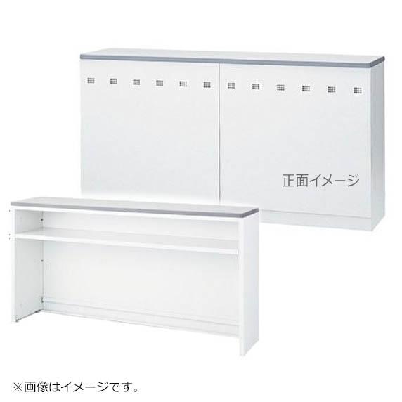 初売りセール! インフォメーションカウンター ホワイト W1200mm ハイカウンター Tタイプ 棚付き 日本製 完成品 セイコー製:NSカウンターシリーズ W1200xD454xH950 NSH-12T_W 新品 オフィス家具