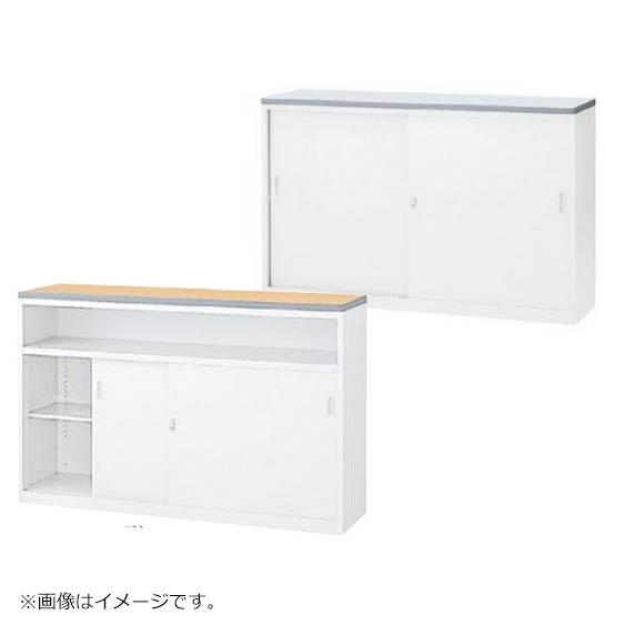 初売りセール! ハイカウンター 鍵付き ホワイト W1500mm Sタイプ書庫型/Uタイプ中棚型 日本製 セイコー製:NSカウンターシリーズ W1500xD454xH950 NSH-15_W 新品 オフィス家具