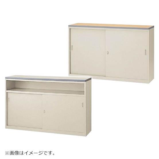 初売りセール! ハイカウンター 鍵付き ニューグレー W1500mm Sタイプ書庫型/Uタイプ中棚型 日本製 セイコー製:NSカウンターシリーズ W1500xD454xH950 NSH-15_G 新品 オフィス家具