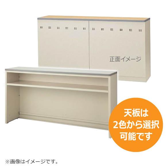インフォメーションカウンター ニューグレー W1800mm ハイカウンター Tタイプ 棚付き 日本製 完成品 セイコー製:NSカウンターシリーズ W1800xD454xH950 NSH-18T_G 新品 オフィス家具