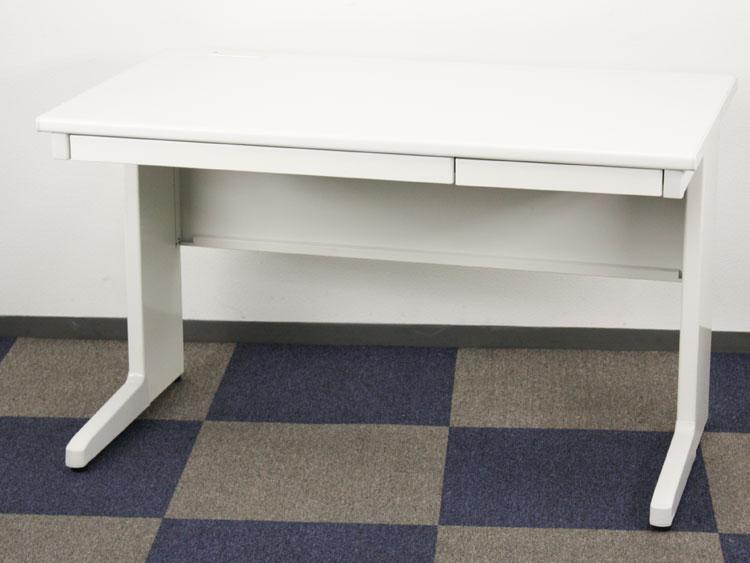 平デスク W1200 未使用品 事務机 デスク 事務用デスク スチールデスク スチール机  トヨスチール製:LCシリーズ W1200xD700xH700 LC-127 中古 セット オフィス家具 70%OFF 1台限り コードホール付 中引出付き