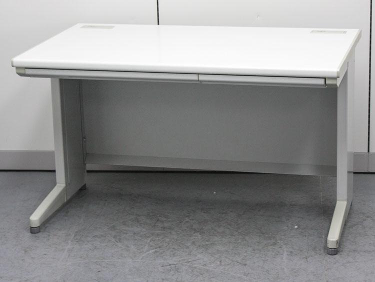 平デスク 平机 事務用デスク スチールデスク ウチダ製 W1200xD700xH700 中古 セット オフィス家具 コードホール付
