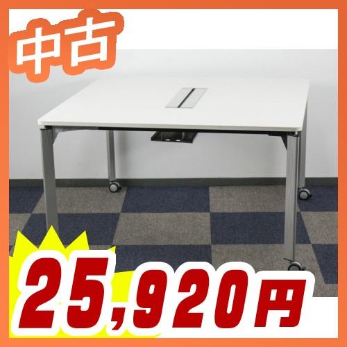 ミーティングテーブル ワークテーブル パーソナルグループテーブル 配線機能付き スクエア イトーキ製:DEシリーズ