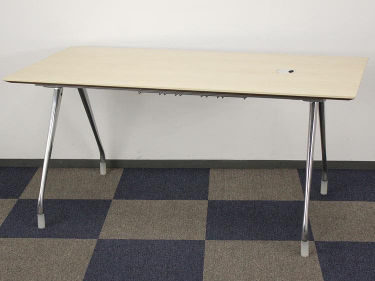 ミーティングテーブル アバックエンバイロメンツ システムデスク ワーキングデスク テーブル Herman Miller製:ABAKシリーズ W1600xD800xH740 中古 セット オフィス家具 デザイナーズ家具