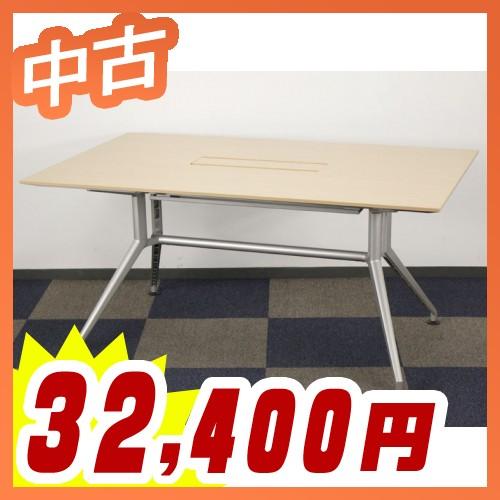 ミーティングテーブル 会議テーブル 配線対応天板仕様 中古テーブル 応接テーブル テーブル イトーキ製:DDシリーズ