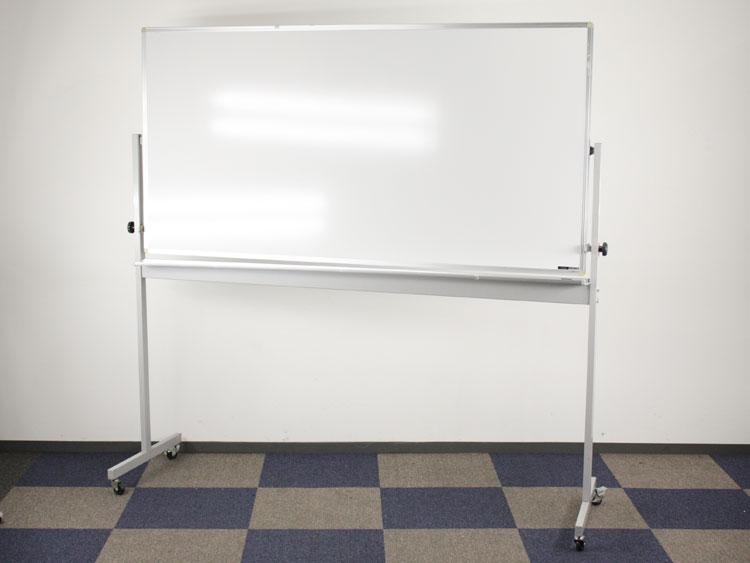 自立型ホワイトボード 脚付きホワイトボード 両面無地 ホーロータイプ 中古ボード イトーキ製 BBSP-18FD-TE 中古 オフィス家具