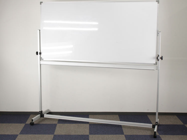 自立型ホワイトボード 脚付きホワイトボード 両面無地 中古ボード 中古 オフィス家具
