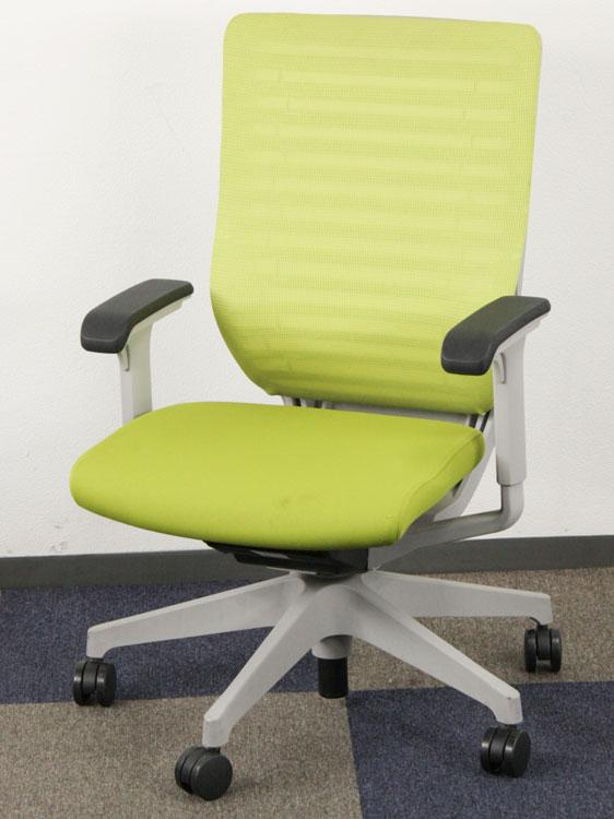 オフィスチェア 事務椅子 役員用チェア マネージメントチェア 中古チェア メッシュ張り アジャスタブル肘 ハイバック イトーキ製 KE-450GB-ZGQ6U7 中古 セット オフィス家具