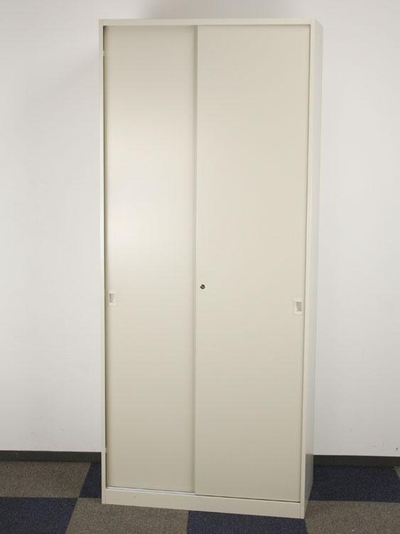 引き違い書庫 保管庫 引き戸書庫 スチール戸 6段 高さのある商品です、搬入経路・設置場所を必ずご確認ください。 ダイシン工業 DSK製 W900xD450xH2100 VGB-21K 中古 セット オフィス家具 鍵付