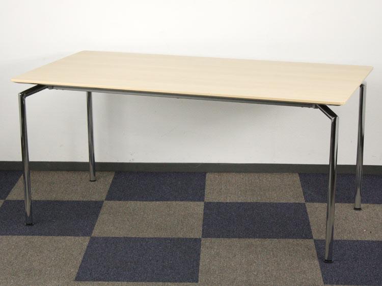 ミーティングテーブル 会議テーブル 中古テーブル 応接テーブル テーブル オカムラ製 W1500xD800xH700 L107CC MK17 中古 セット オフィス家具