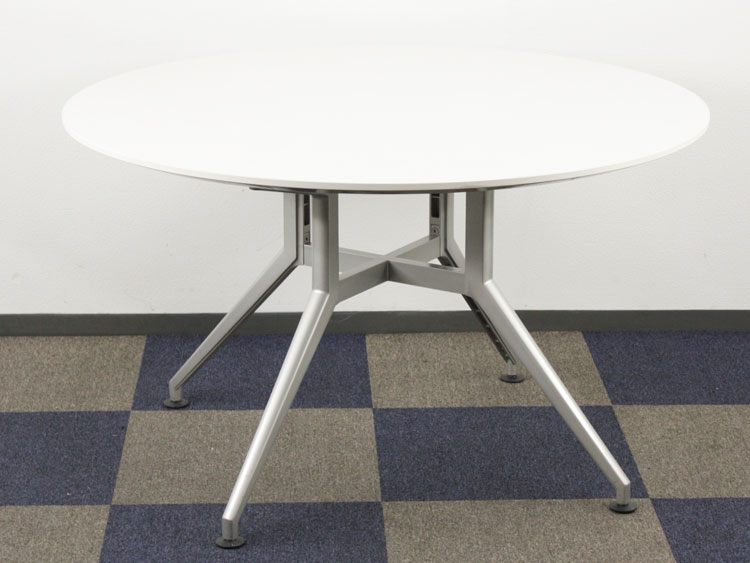 会議テーブル 円テーブル 円型 ミーティングテーブル イトーキ製 W1200xD1200xH700 DDDP-12CS-W9 中古 セット オフィス家具