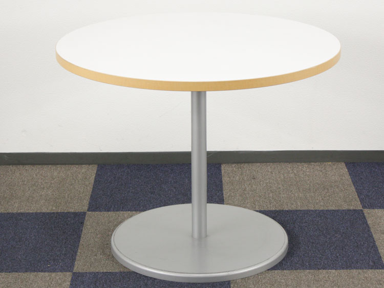 会議テーブル 円テーブル 丸テーブル ミーティングテーブル 会議机 テーブル イトーキ製 W900xD900xH700 TRSP-90-W9 中古 セット オフィス家具