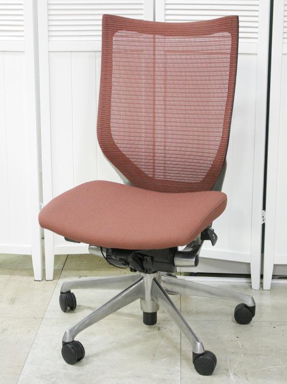 オフィスチェア マネージメントチェア ハイバック スタンダードメッシュ ポリッシュ脚 高機能チェア 役員用椅子 高級チェア 中古チェア 完成品 オカムラ製:バロンシリーズ CP35BR 4726 中古 セット オフィス家具 お勧め商品