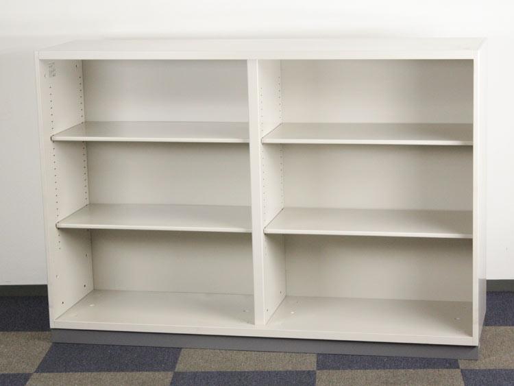 オープン書庫 スチール書庫 A4サイズ 浅型 アウトレット 未使用品 オフィス収納 コクヨ製 W1600xD450xH1100 BWS-SK516DF1 アウトレット オフィス家具 未使用品 ベース付き