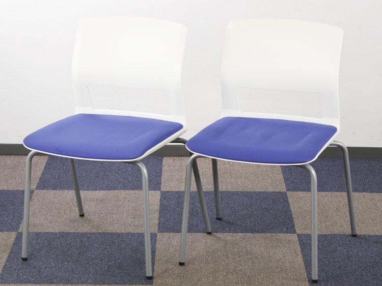 スタッキングチェア 会議イス ミーティングチェア 背樹脂 固定脚タイプ パイプ椅子 中古チェア コクヨ製:160シリーズ CK-160 中古 セット オフィス家具