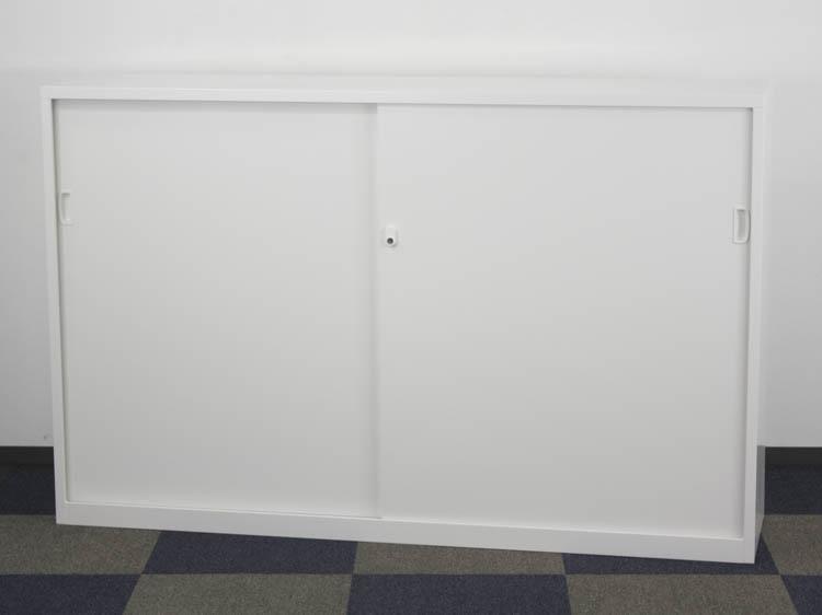 引違い書庫 下置用 アジャスター付 スチール引戸書庫 3段 スチール書庫 オフィス収納 未使用品 B品 展示品 中古書庫 セイコー製 W1760xD400xH1120 ANW-64S アウトレット オフィス家具 鍵付