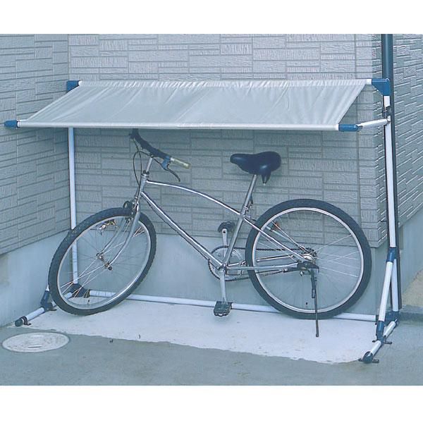 サイクルガレージ CG-600 シルバー/ブルー 物置き 屋外収納 屋根 自転車 バイク 雨よけ 【アイリスオーヤマ】